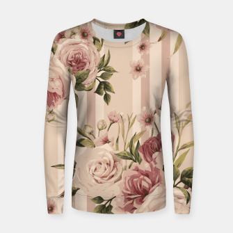 Thumbnail image of Flowers and Stripes Two Woman cotton sweater, Live Heroes