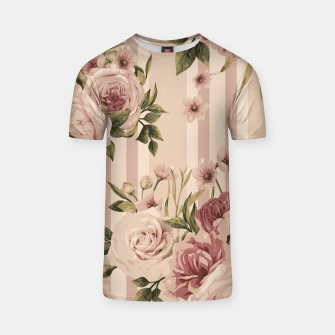 Thumbnail image of Flowers and Stripes Two T-shirt, Live Heroes