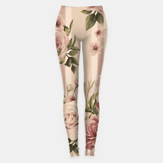 Thumbnail image of Flowers and Stripes Two Leggings, Live Heroes