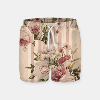 Thumbnail image of Flowers and Stripes Two Swim Shorts, Live Heroes