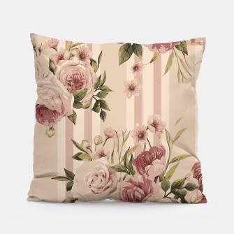 Thumbnail image of Flowers and Stripes Two Pillow, Live Heroes