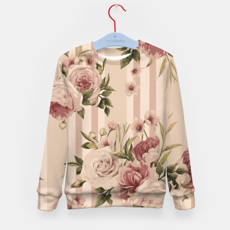 Thumbnail image of Flowers and Stripes Two Kid's sweater, Live Heroes