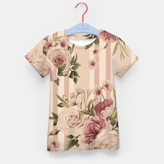 Thumbnail image of Flowers and Stripes Two Kid's t-shirt, Live Heroes
