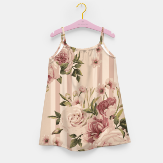Thumbnail image of Flowers and Stripes Two Girl's dress, Live Heroes