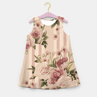 Thumbnail image of Flowers and Stripes Two Girl's summer dress, Live Heroes