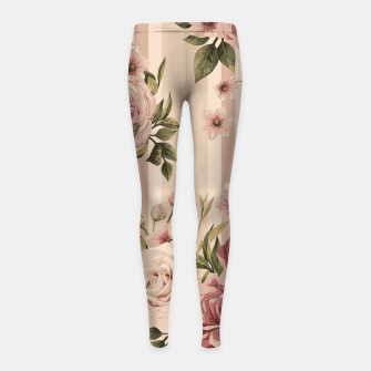 Thumbnail image of Flowers and Stripes Two Girl's leggings, Live Heroes