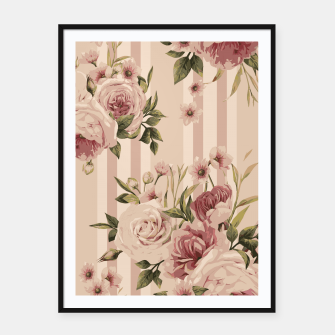 Thumbnail image of Flowers and Stripes Two Framed poster, Live Heroes