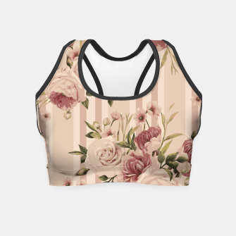Thumbnail image of Flowers and Stripes Two Crop Top, Live Heroes