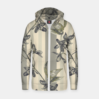 Thumbnail image of Flowers and Stripes One Cotton zip up hoodie, Live Heroes