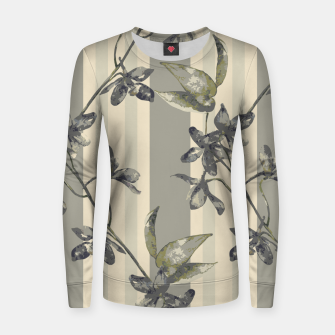 Thumbnail image of Flowers and Stripes One Woman cotton sweater, Live Heroes