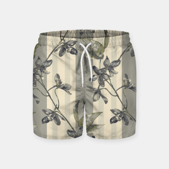 Thumbnail image of Flowers and Stripes One Swim Shorts, Live Heroes