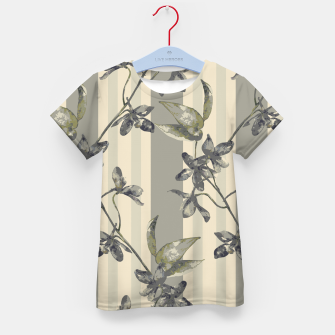 Thumbnail image of Flowers and Stripes One Kid's t-shirt, Live Heroes
