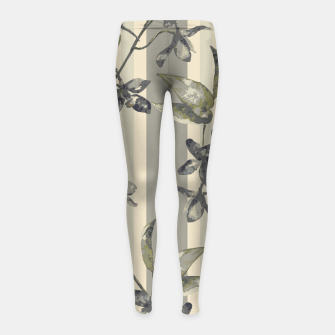 Thumbnail image of Flowers and Stripes One Girl's leggings, Live Heroes