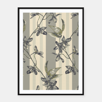 Thumbnail image of Flowers and Stripes One Framed poster, Live Heroes