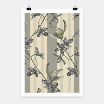 Thumbnail image of Flowers and Stripes One Poster, Live Heroes