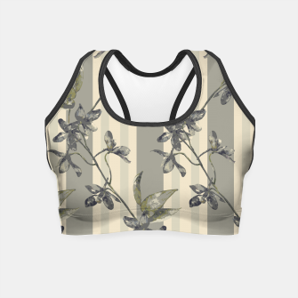 Thumbnail image of Flowers and Stripes One Crop Top, Live Heroes