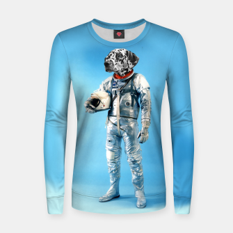 Thumbnail image of Astronaut-Dalmatian Woman cotton sweater, Live Heroes
