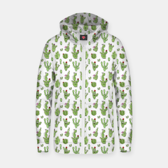 Cactus People – Cotton zip up hoodie thumbnail image