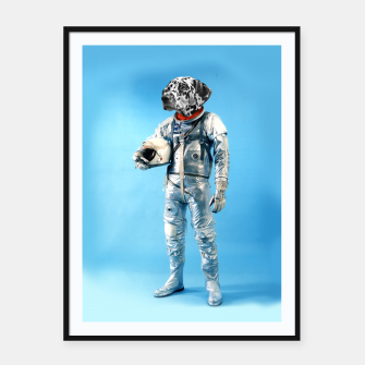 Thumbnail image of Astronaut-Dalmatian Framed poster, Live Heroes