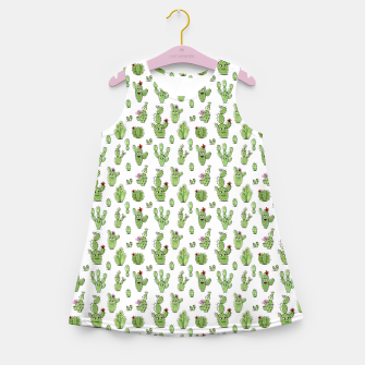 Cactus People – Girl's summer dress Bild der Miniatur