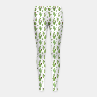 Cactus People – Girl's leggings Bild der Miniatur