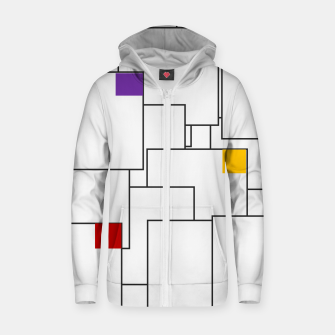Labyrinthine Cotton zip up hoodie miniature