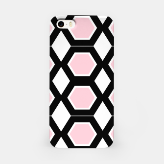 Thumbnail image of iPhone design case, pink black Hexagons, Live Heroes