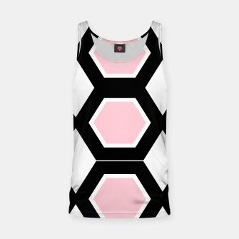 Miniatur Tank top, black pink Ornaments Hexagons, Live Heroes