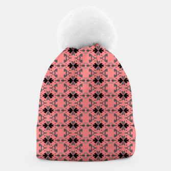 Miniatur Luxury stylish beanie, pink black Ornaments, Live Heroes