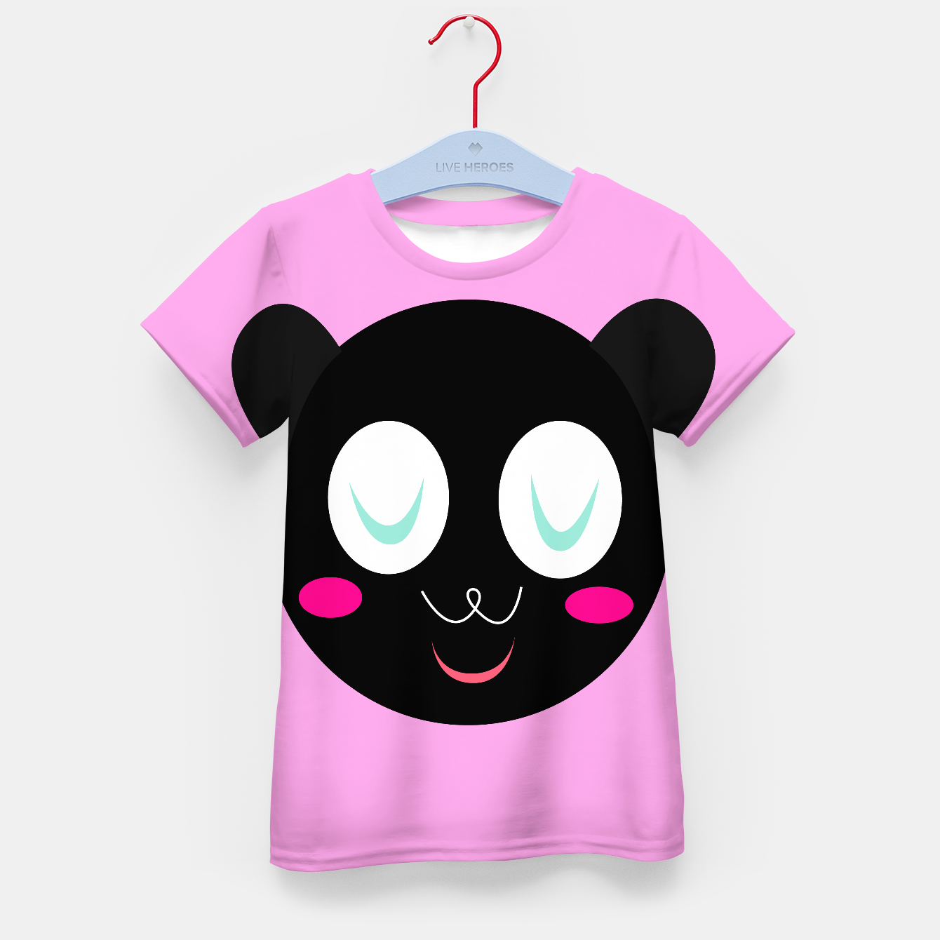 Foto Kids authors t-shirt, Little panda smiling - Live Heroes