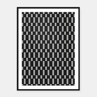 Too Many Chevrons Framed poster miniature