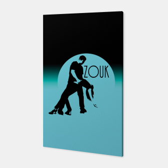 Miniatur lets dance zouk - blue edition Canvas, Live Heroes
