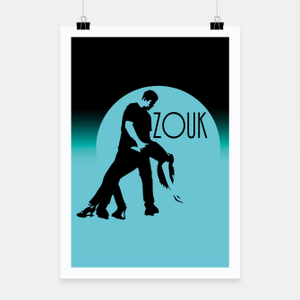 Thumbnail image of lets dance zouk - blue edition Plakat, Live Heroes