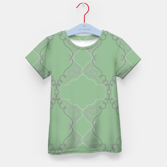 Thumbnail image of Kids ornamental t-shirt, green Vintage, Live Heroes