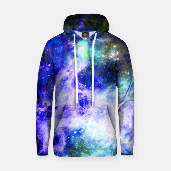 Blue space Cotton hoodie miniature