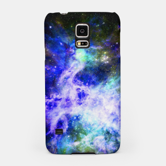 Blue space Samsung Case miniature