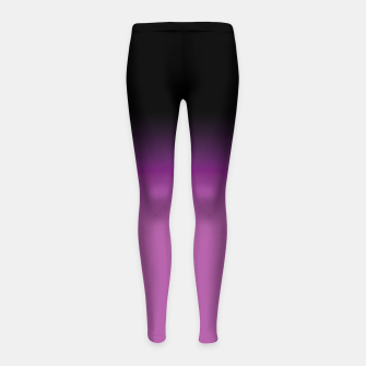 Miniatur purple to black colorgrade Kinder-Leggins, Live Heroes