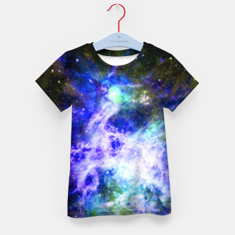 Blue space Kid's t-shirt miniature