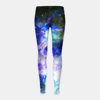 Blue space Girl's leggings miniature
