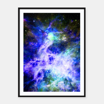 Blue space Framed poster miniature