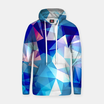 Bluish polygons Cotton hoodie miniature
