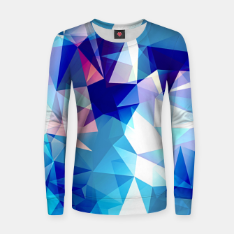 Bluish polygons Woman cotton sweater miniature