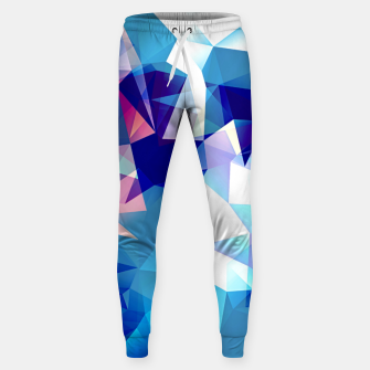 Thumbnail image of Bluish polygons Cotton sweatpants, Live Heroes
