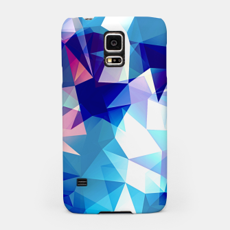 Bluish polygons Samsung Case miniature