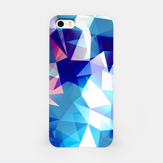 Thumbnail image of Bluish polygons iPhone Case, Live Heroes