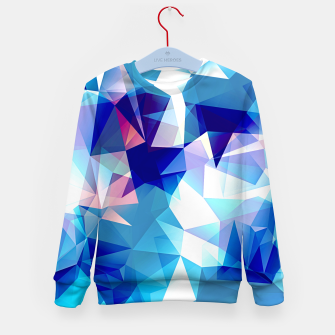 Bluish polygons Kid's sweater miniature