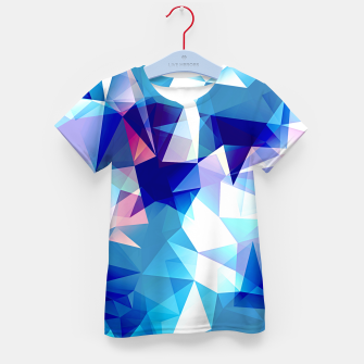 Bluish polygons Kid's t-shirt miniature