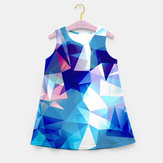 Bluish polygons Girl's summer dress miniature