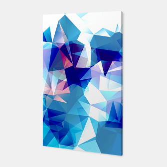 Bluish polygons Canvas miniature