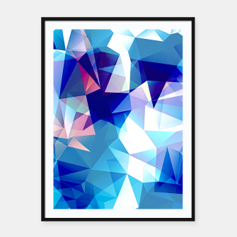Bluish polygons Framed poster miniature